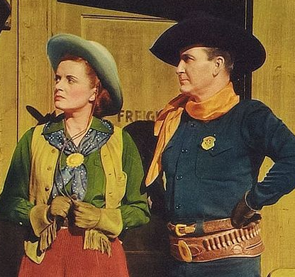 Nora Lane with Tim McCoy in Texas Renegades
