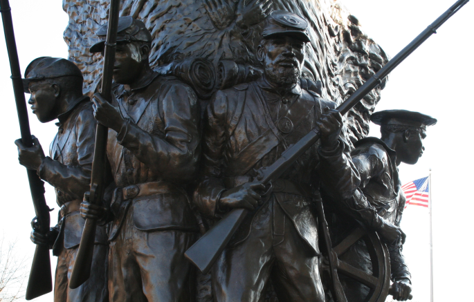 The Spirit of Freedom statue at the African-American Civil War Memorial in Washington, D.C.